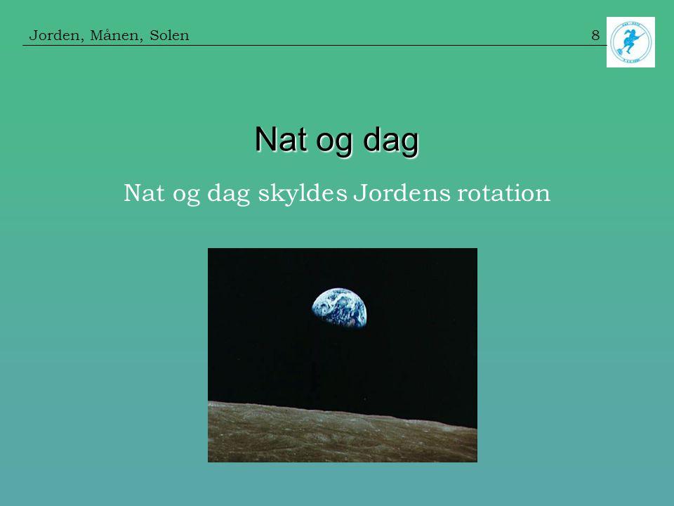 Nat og dag skyldes Jordens rotation
