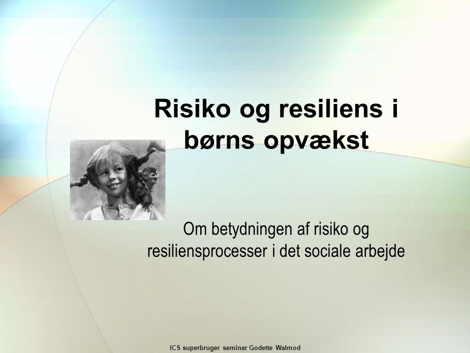 Risiko og resiliens i børns opvækst