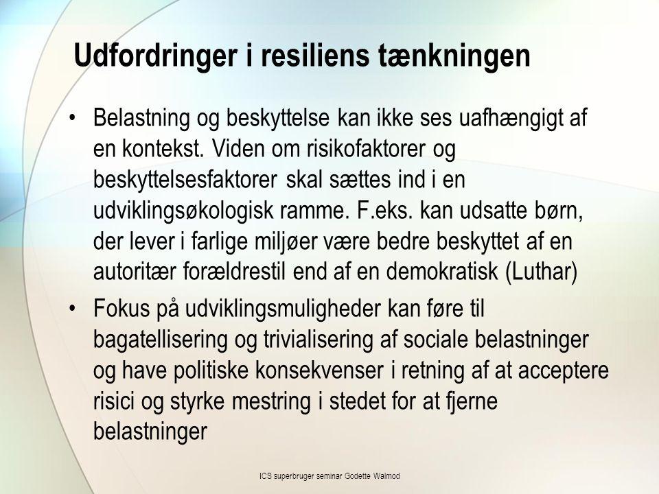 Udfordringer i resiliens tænkningen