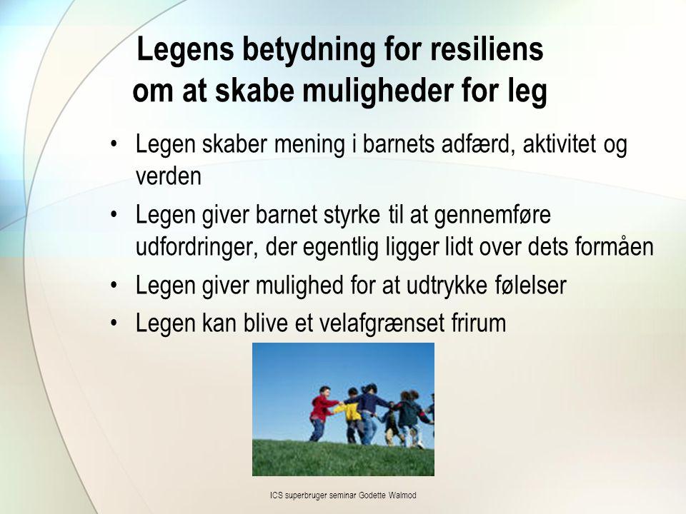 Legens betydning for resiliens om at skabe muligheder for leg