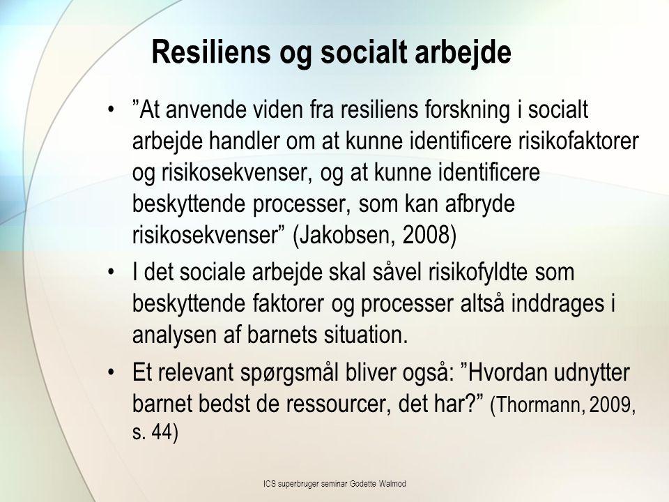 Resiliens og socialt arbejde