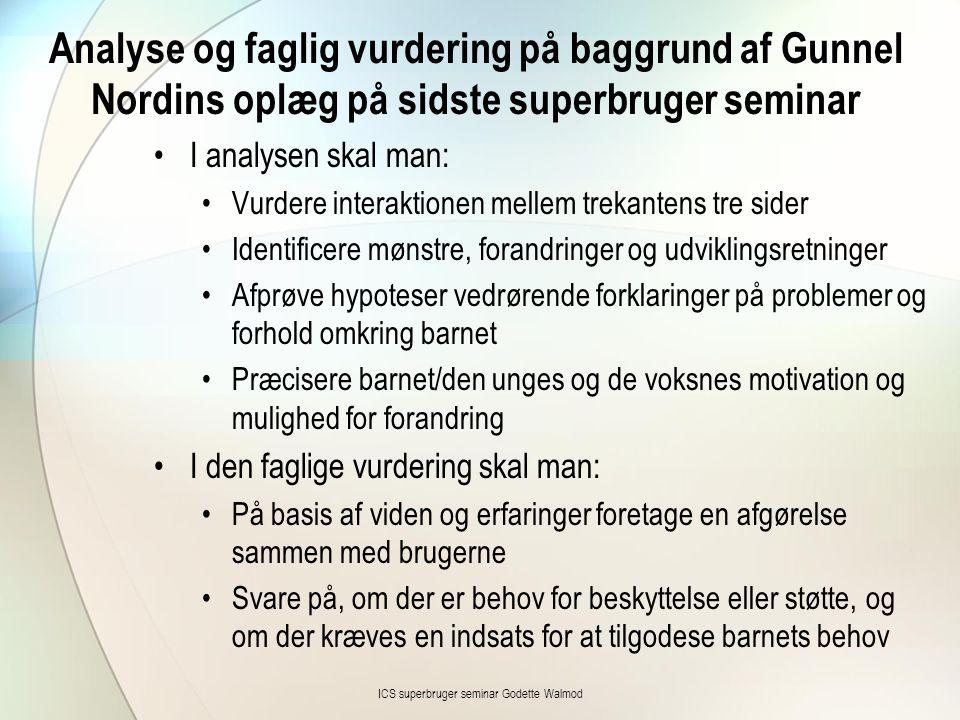 ICS superbruger seminar Godette Walmod