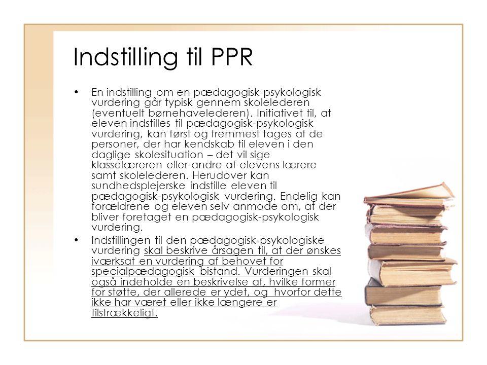Indstilling til PPR