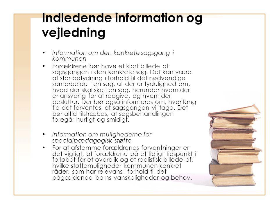 Indledende information og vejledning