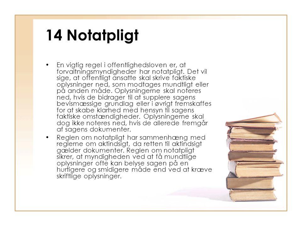 14 Notatpligt