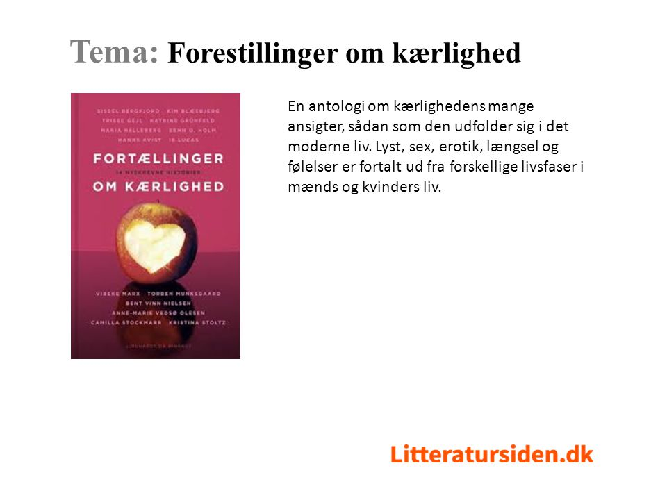 Tema: Forestillinger om kærlighed