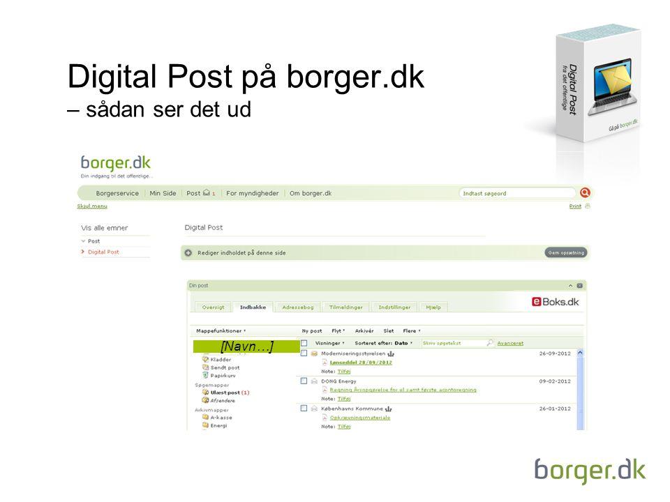 Digital Post på borger.dk – sådan ser det ud
