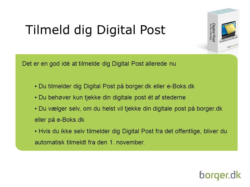 Tilmeld dig Digital Post