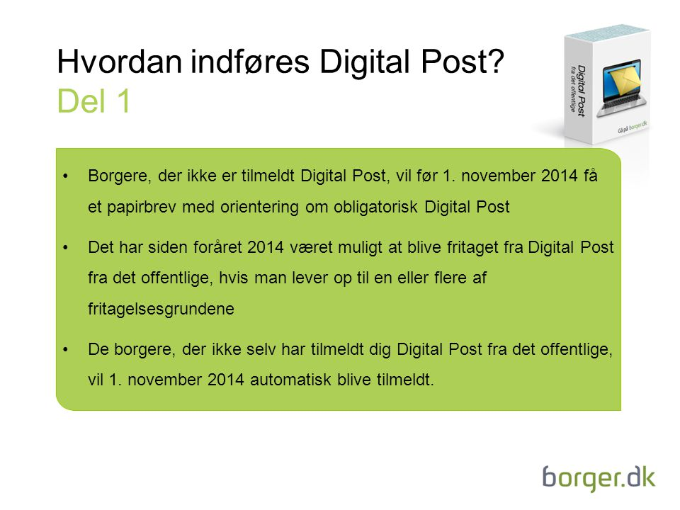 Hvordan indføres Digital Post Del 1