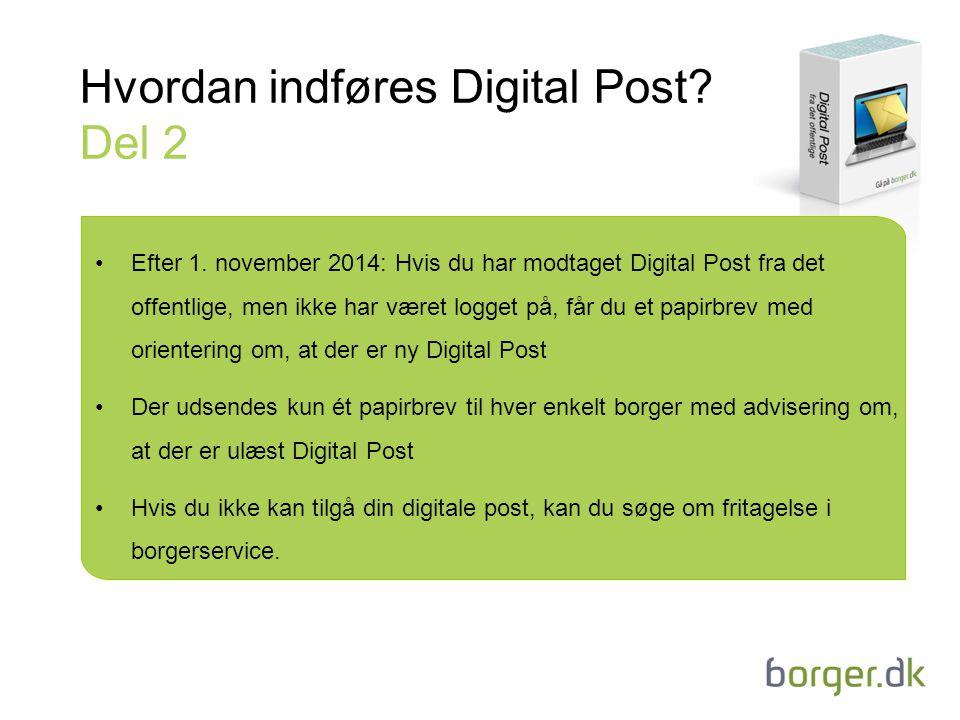 Hvordan indføres Digital Post Del 2