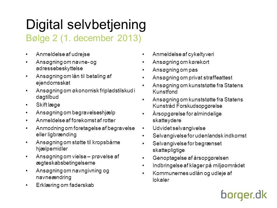 Digital selvbetjening Bølge 2 (1. december 2013)