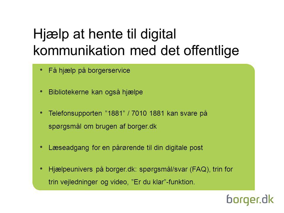 Hjælp at hente til digital kommunikation med det offentlige