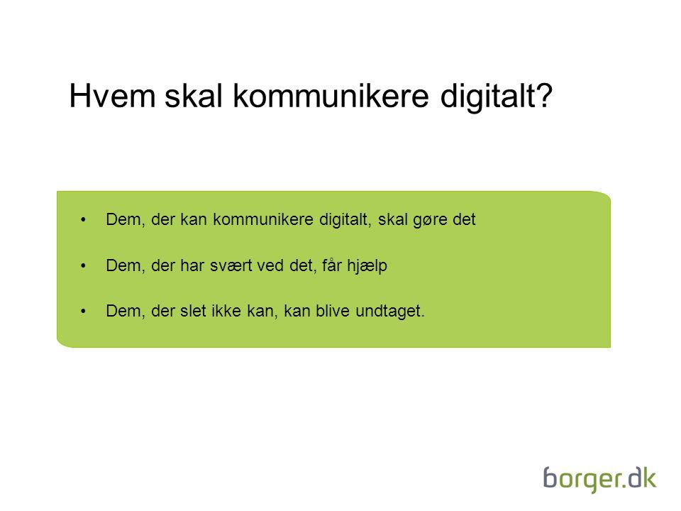 Hvem skal kommunikere digitalt