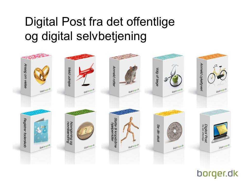 Digital Post fra det offentlige og digital selvbetjening