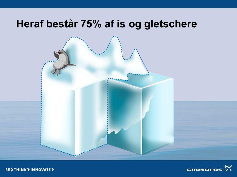 Heraf består 75% af is og gletschere