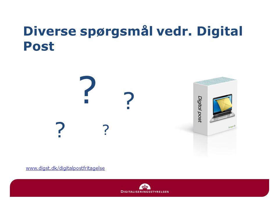 Diverse spørgsmål vedr. Digital Post