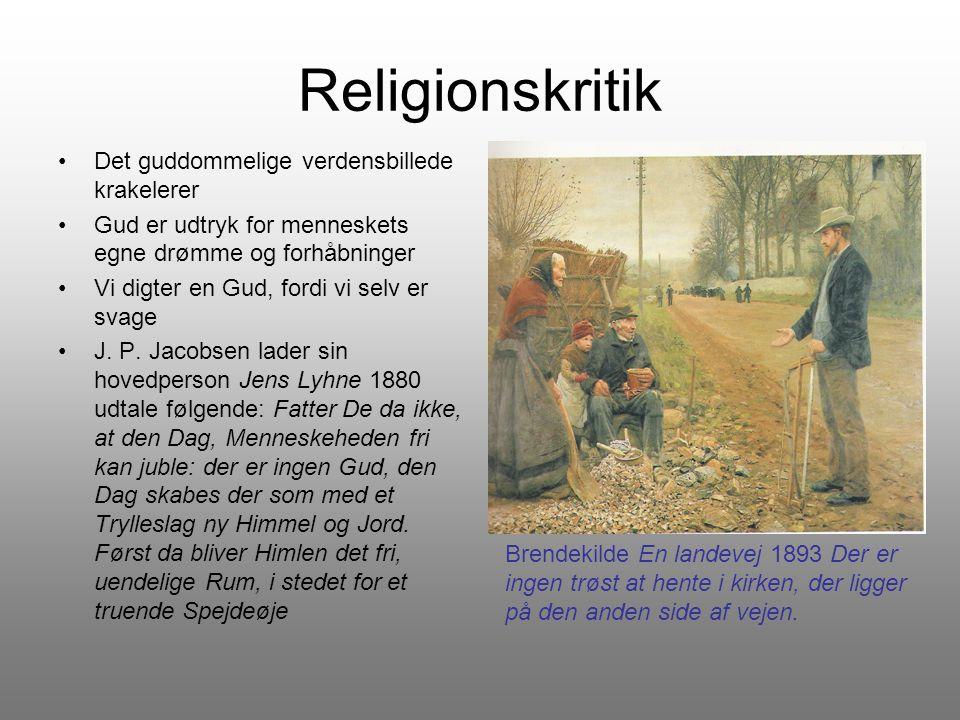 Religionskritik Det guddommelige verdensbillede krakelerer