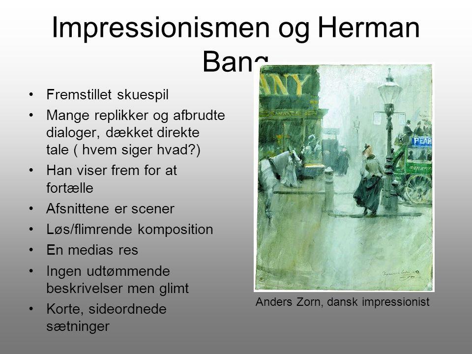 Impressionismen og Herman Bang