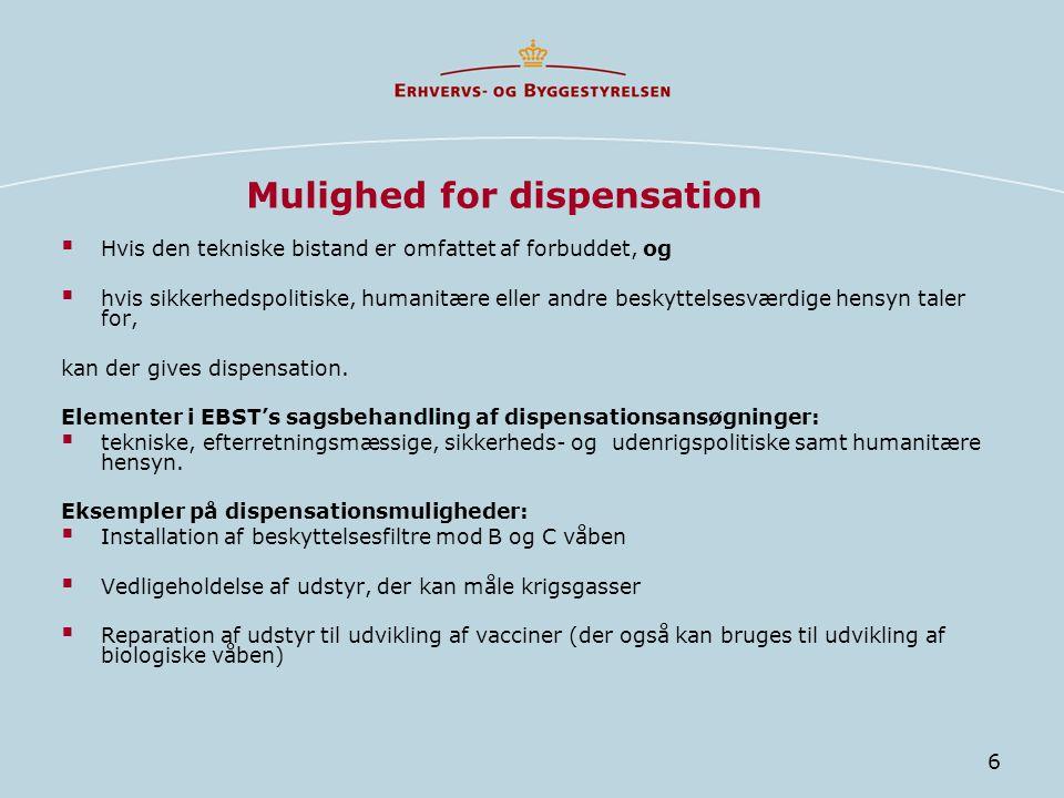 Mulighed for dispensation
