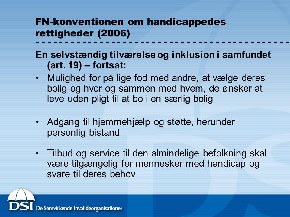FN-konventionen om handicappedes rettigheder (2006)