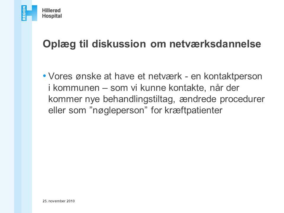 Oplæg til diskussion om netværksdannelse