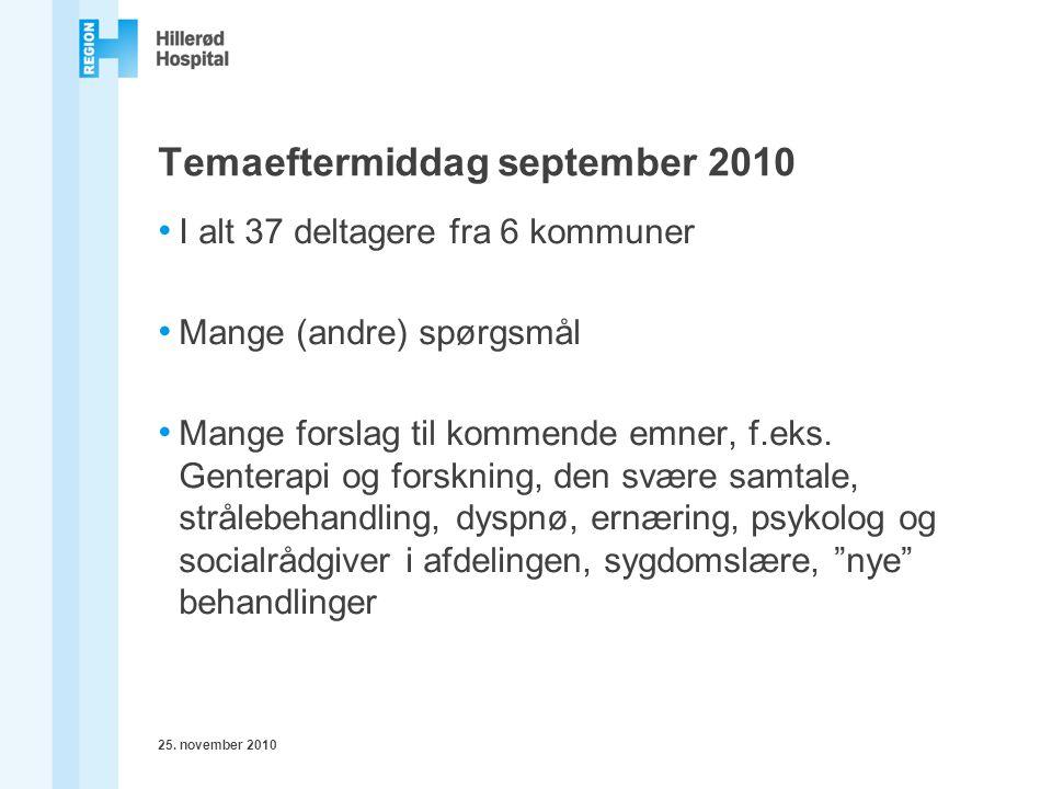Temaeftermiddag september 2010