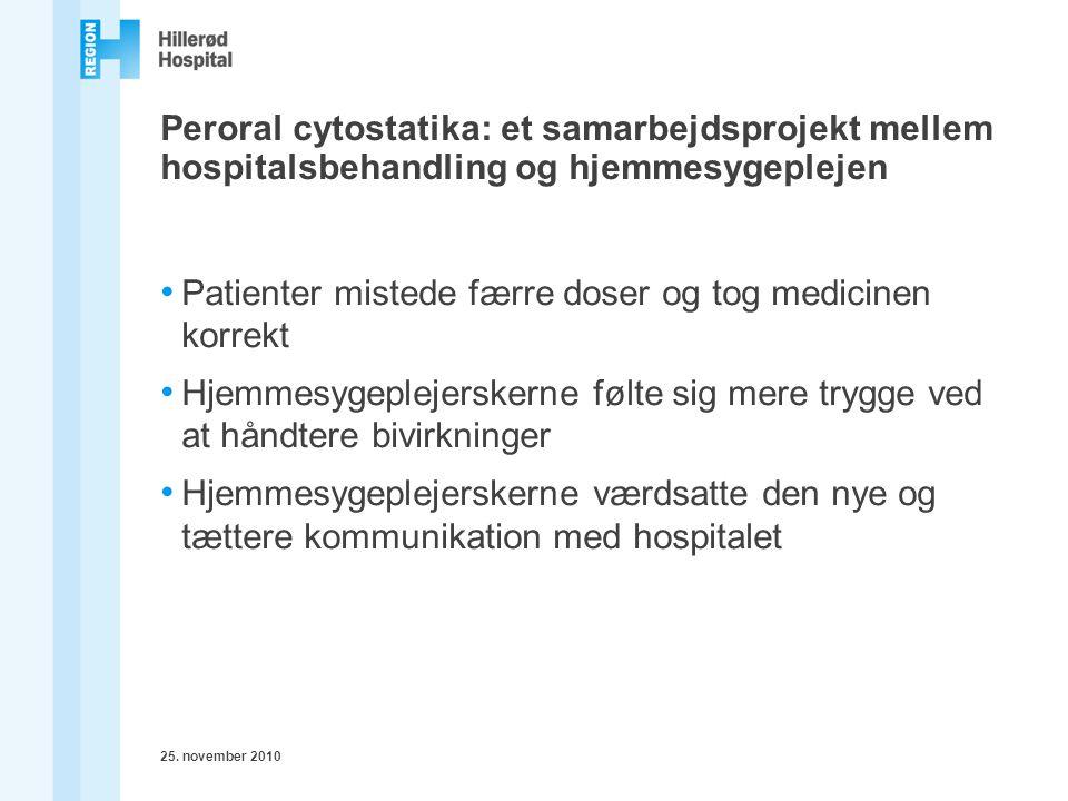 Patienter mistede færre doser og tog medicinen korrekt