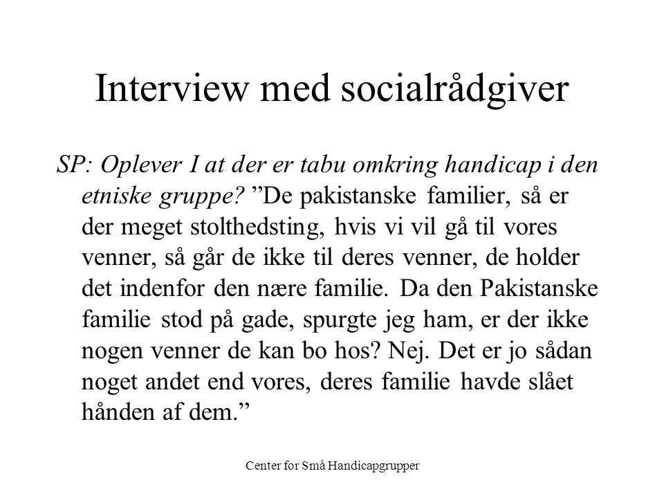 Interview med socialrådgiver