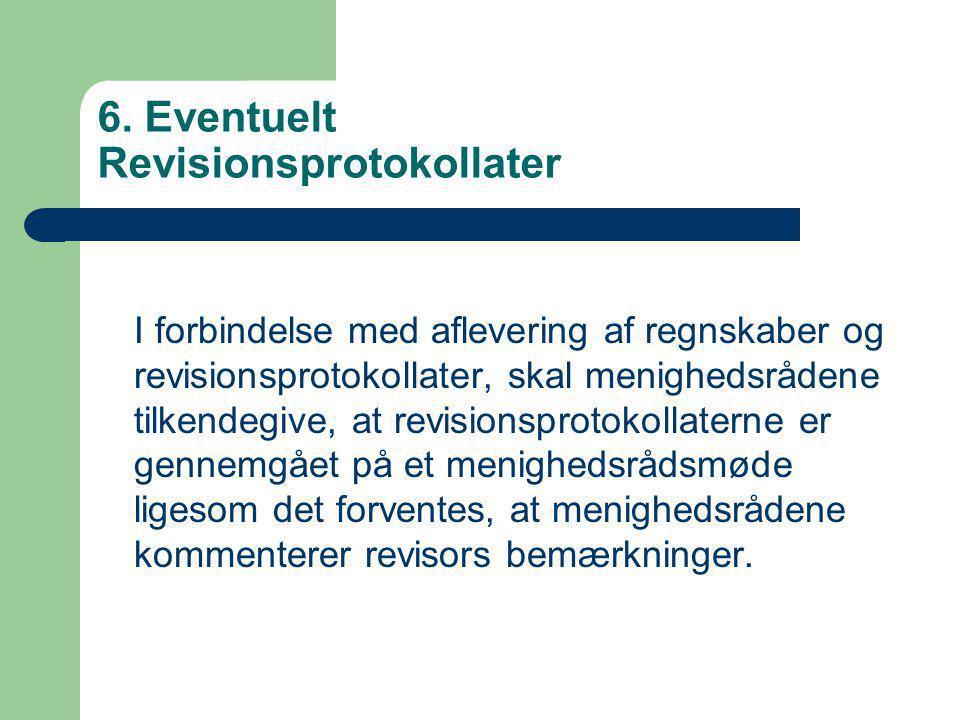 6. Eventuelt Revisionsprotokollater
