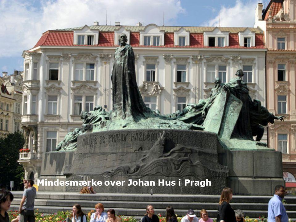 Mindesmærke over Johan Hus i Pragh