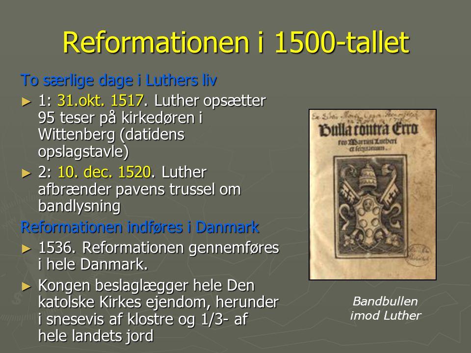 Reformationen i 1500-tallet
