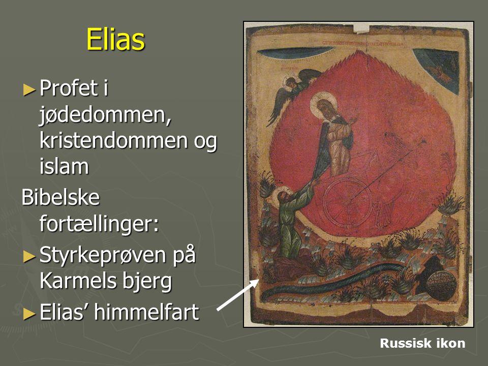 Elias Profet i jødedommen, kristendommen og islam