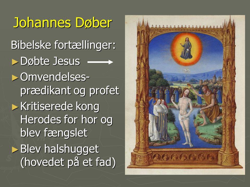 Johannes Døber Bibelske fortællinger: Døbte Jesus