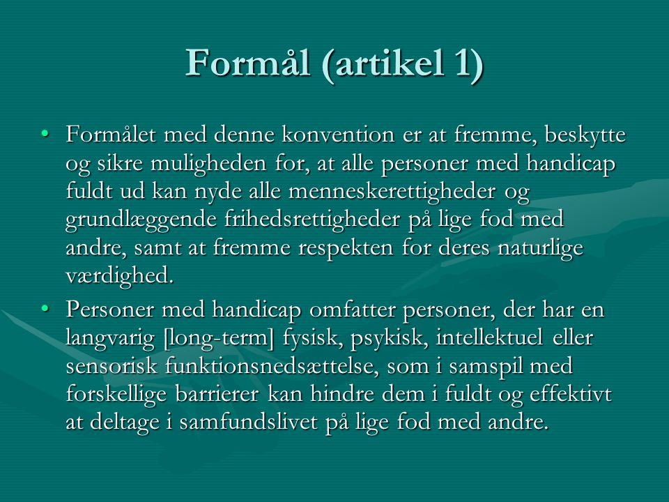 Formål (artikel 1)