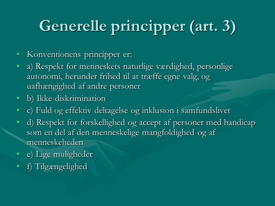 Generelle principper (art. 3)