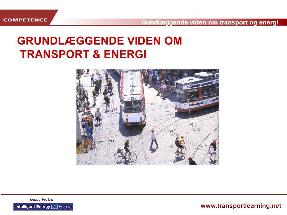 GRUNDLÆGGENDE VIDEN OM TRANSPORT & ENERGI