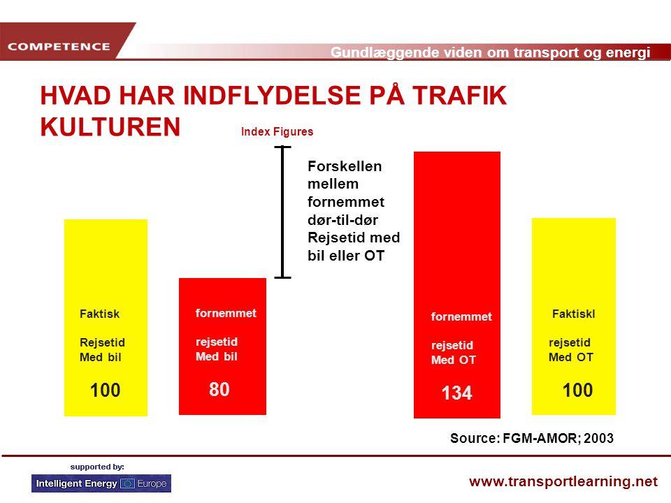 HVAD HAR INDFLYDELSE PÅ TRAFIK KULTUREN Index Figures