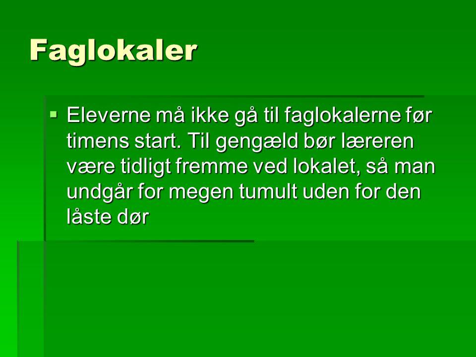 Faglokaler