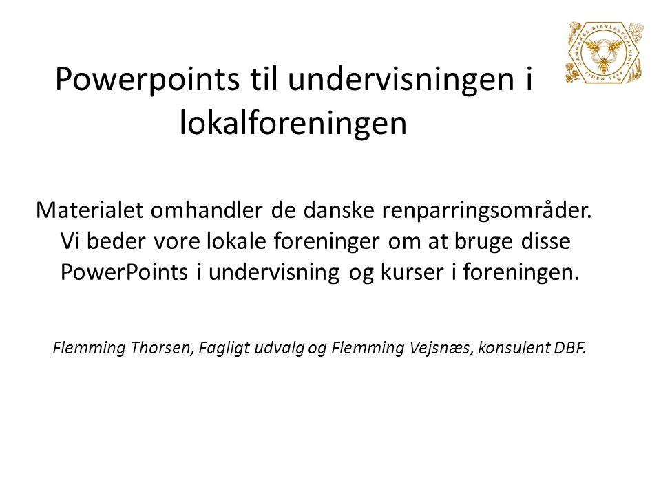 Powerpoints til undervisningen i lokalforeningen
