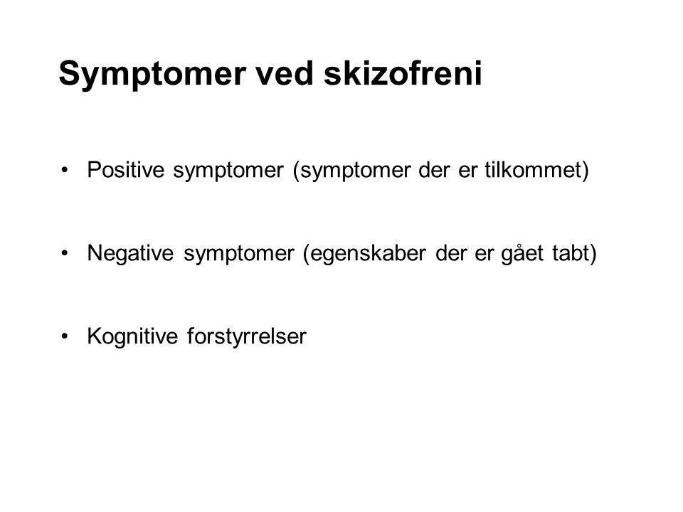 Symptomer ved skizofreni