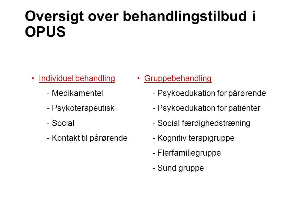 Oversigt over behandlingstilbud i OPUS