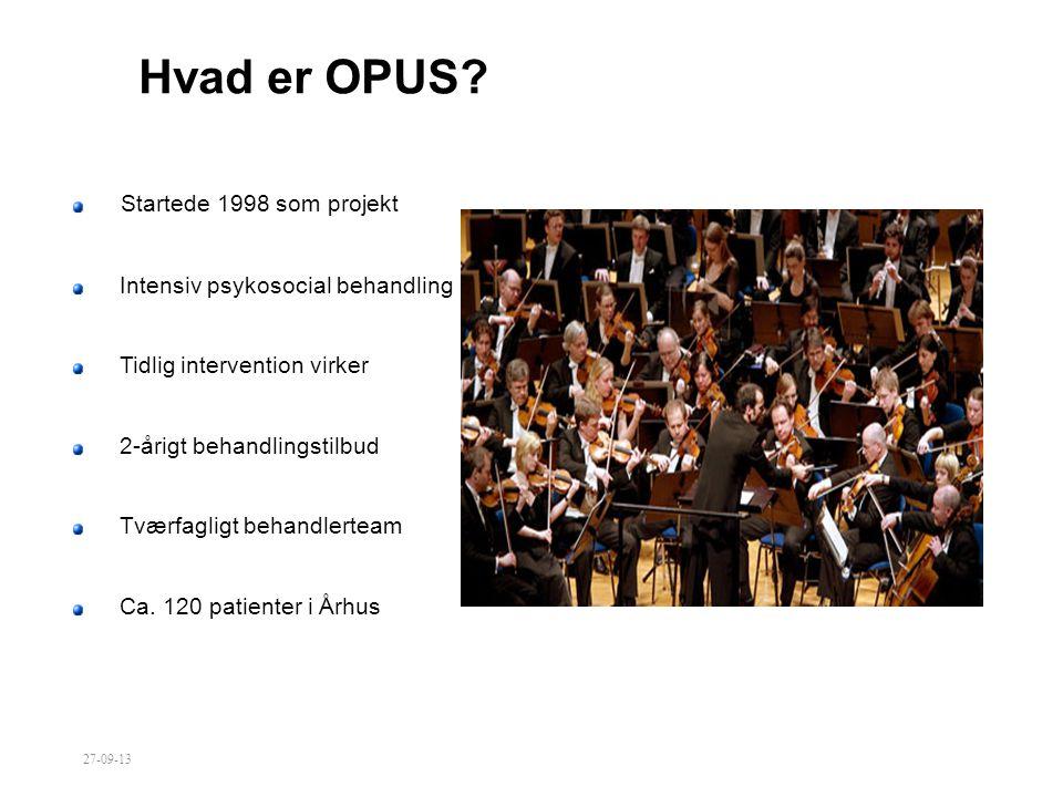 Hvad er OPUS Startede 1998 som projekt
