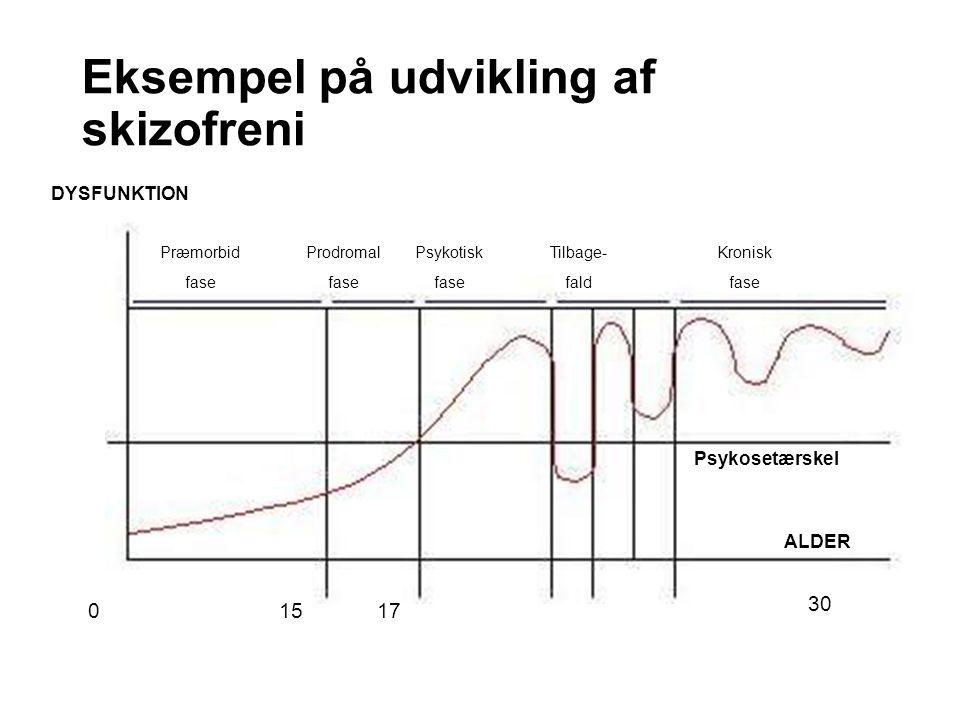 Eksempel på udvikling af skizofreni