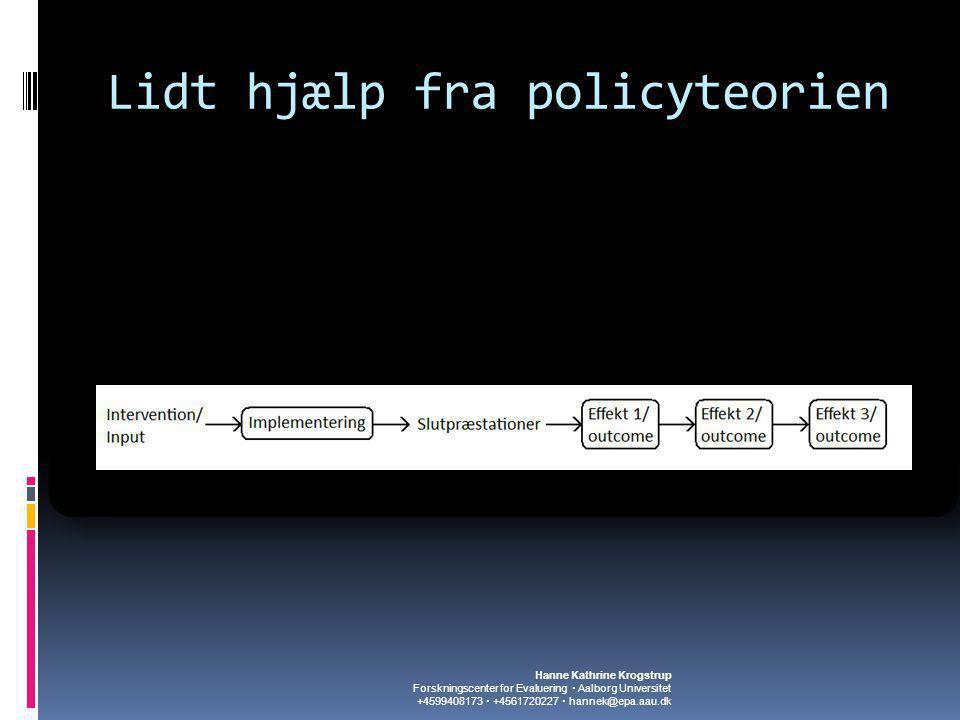Lidt hjælp fra policyteorien