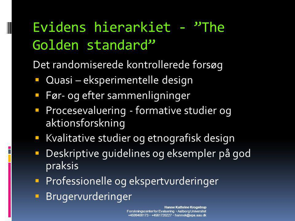 Evidens hierarkiet - The Golden standard