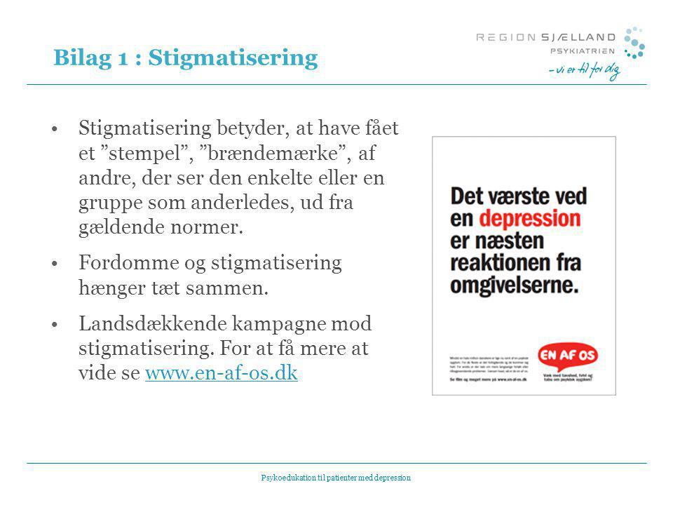 Bilag 1 : Stigmatisering