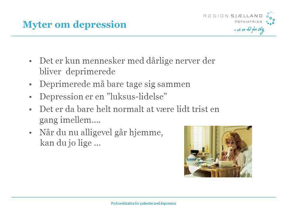 Psykoedukation for patienter med depression