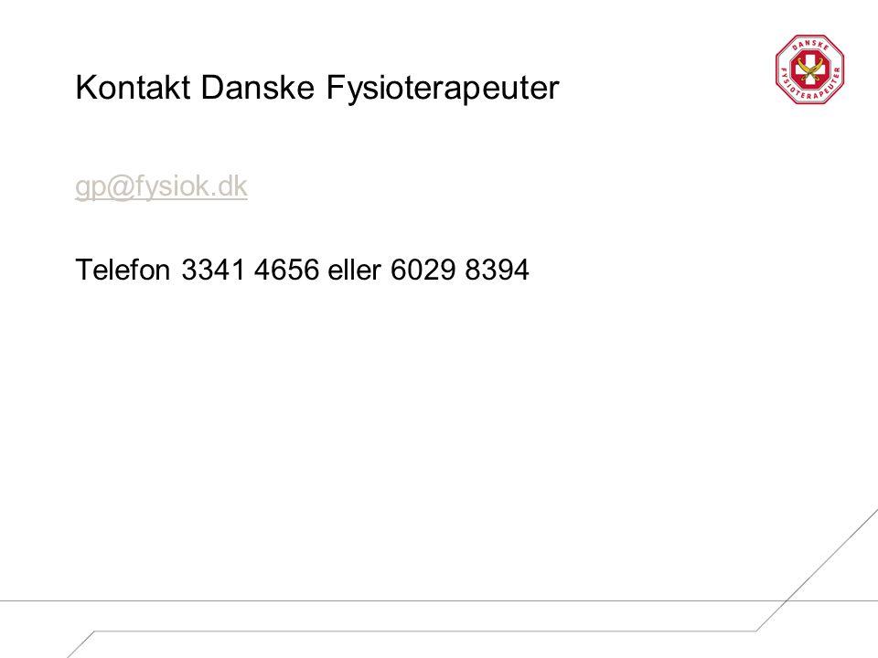 Kontakt Danske Fysioterapeuter