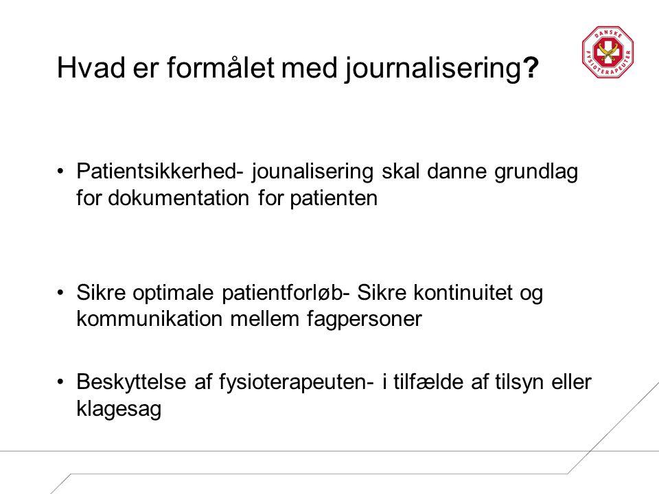 Hvad er formålet med journalisering