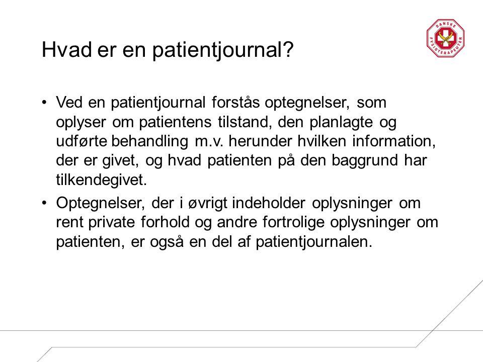Hvad er en patientjournal